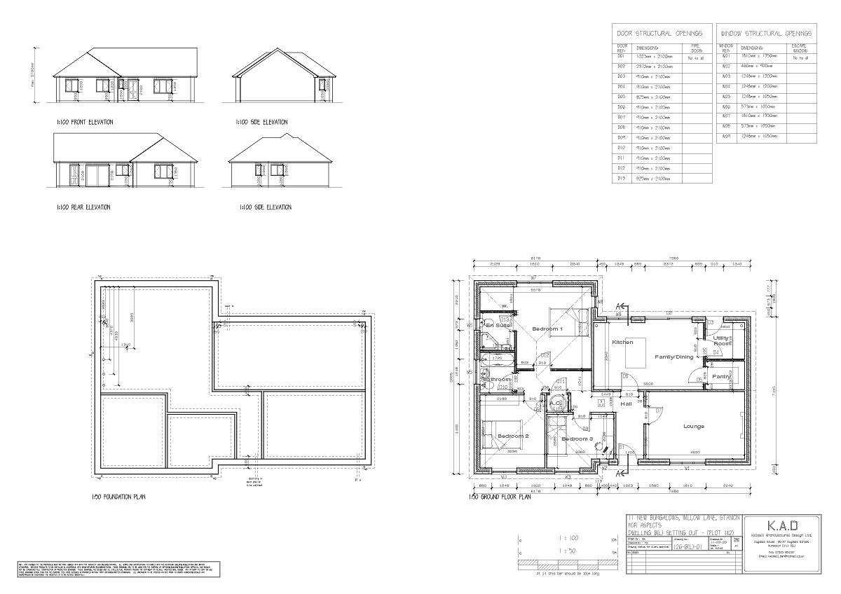 Meadow View, Stanion Plot 1 Plan