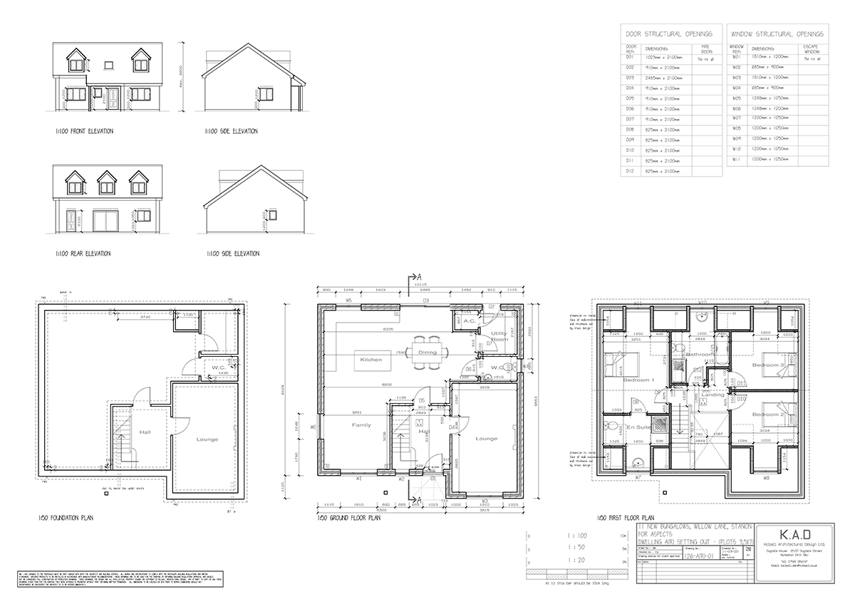 Meadow View, Stanion Plot 3 Plan